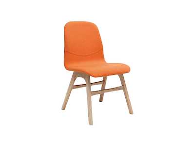 Ava Dining Chair - Natural, Tangerine