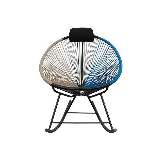 Acapulco Rocking Chair - Taupe, Black, Blue Mix - 0