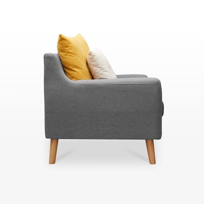Evan 2 Seater Sofa - Charcoal Grey - 3