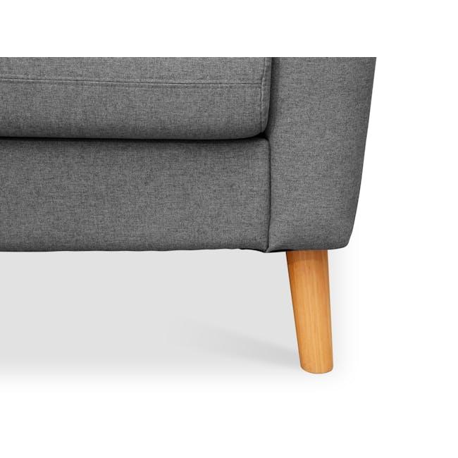 Evan 3 Seater Sofa with Evan 2 Seater Sofa - Charcoal Grey - 10