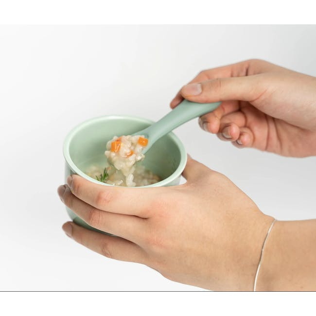 MODU'I Silicone Baby Spoon - Mint (Set of 2) - 1