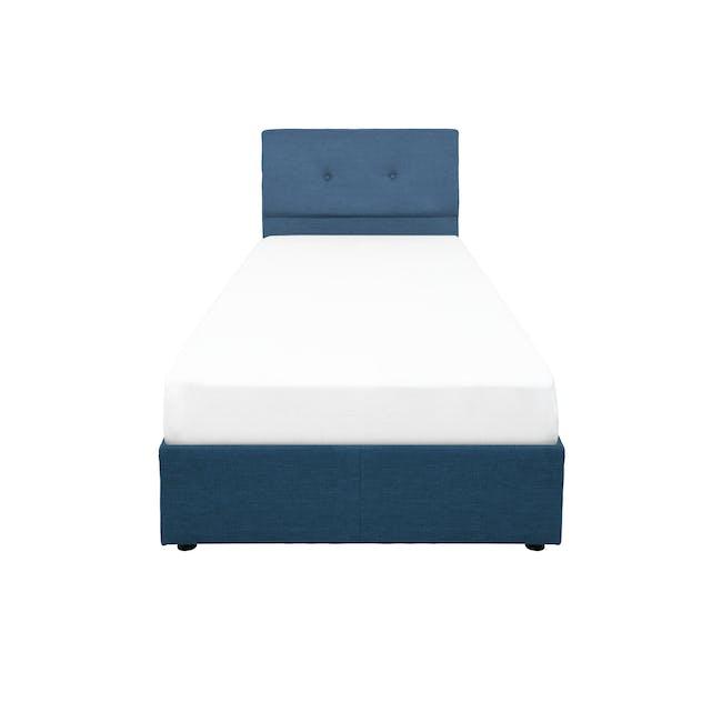 ESSENTIALS Single Headboard Box Bed - Denim (Fabric) - 0