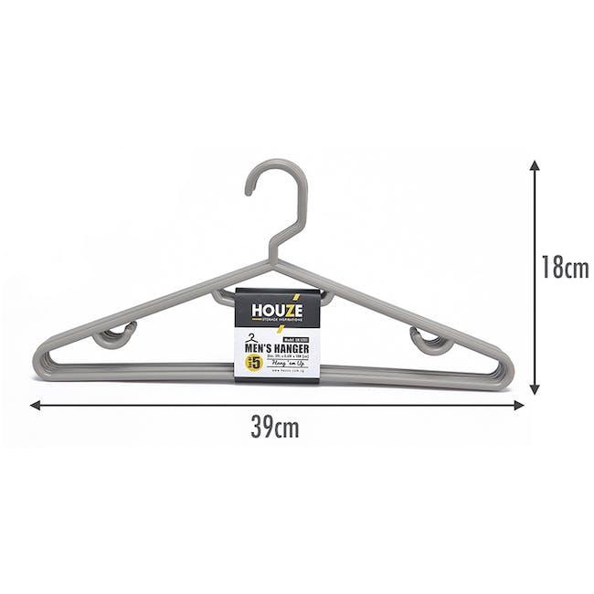 HOUZE Men's Hanger (Set of 5) - Grey - 1