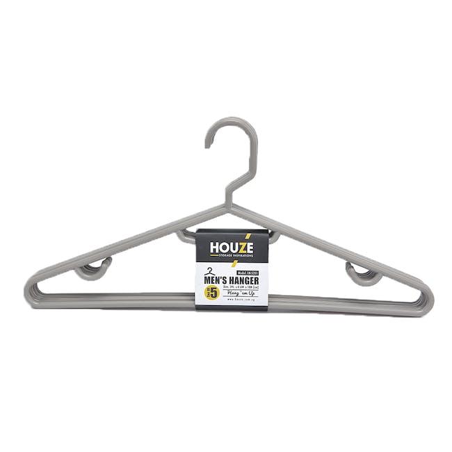 HOUZE Men's Hanger (Set of 5) - Grey - 0