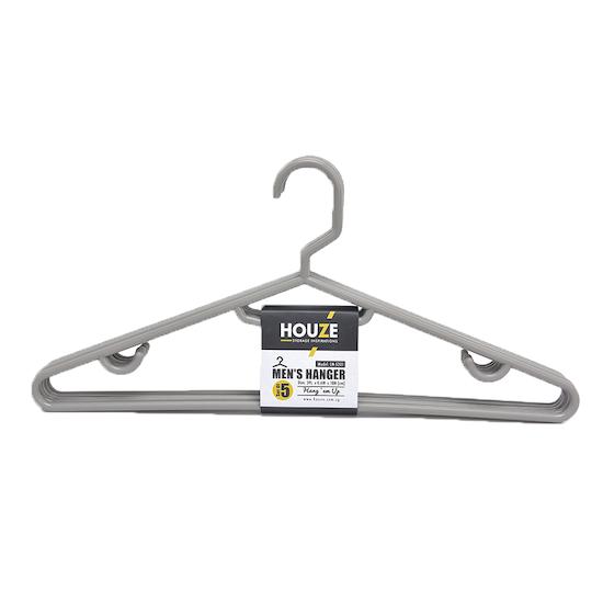 Houze - HOUZE Men's Hanger (Set of 5) - Grey
