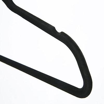 Velvet Clothes Hangers (Set of 10) - Black - Image 2