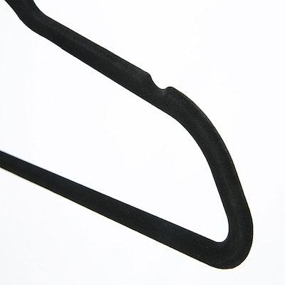 Velvet Clothes Hangers (Set of 10) - Black