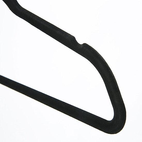 1688 - Velvet Clothes Hangers (Set of 10) - Black