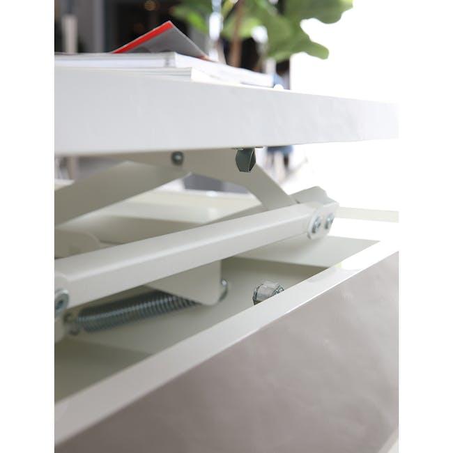 Piper Storage Coffee Table - Chrome, White - 3