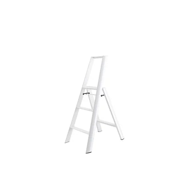 Hasegawa Lucano Aluminium 3 Step Ladder - White - 0
