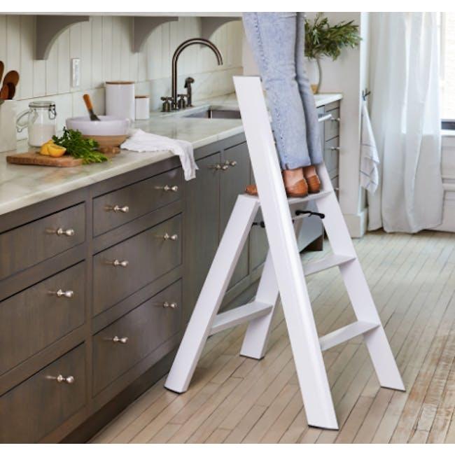 Hasegawa Lucano Aluminium 3 Step Ladder - White - 2