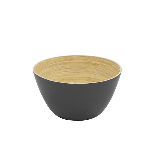 Green Home - Rowan Bamboo Large Bowl - Grey