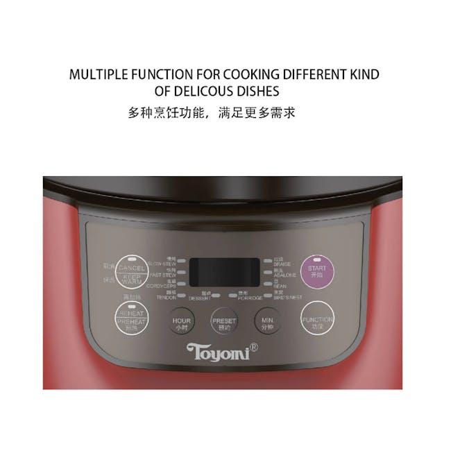 TOYOMI Micro-com High Heat Stew Cooker HH 9080 - Red - 1