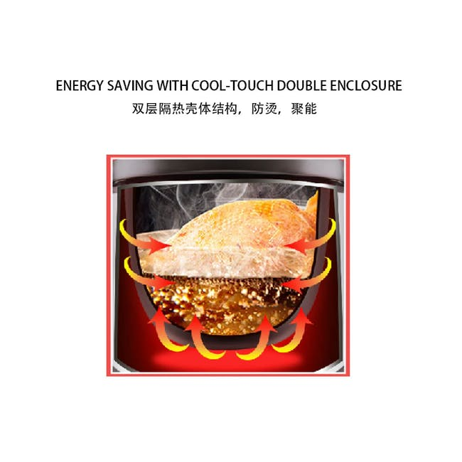 TOYOMI Micro-com High Heat Stew Cooker HH 9080 - Red - 3
