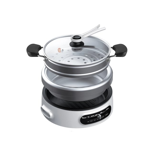 TOYOMI 4.5L Multi Cooker with Grill Pan & Steamer MC 6969SS - 0