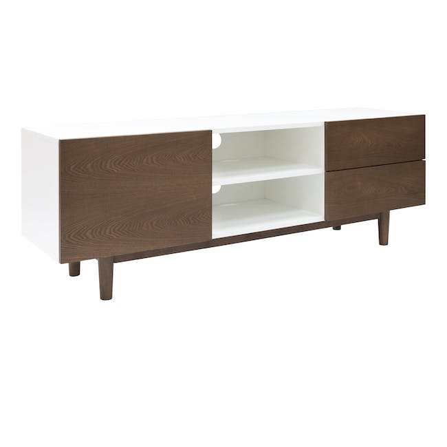 Aalto TV Cabinet 1.6m with Kyra High Coffee Table - Cocoa - 3