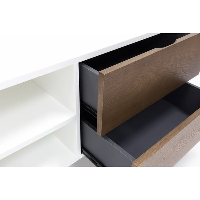Aalto TV Cabinet 1.6m with Kyra High Coffee Table - Cocoa - 5