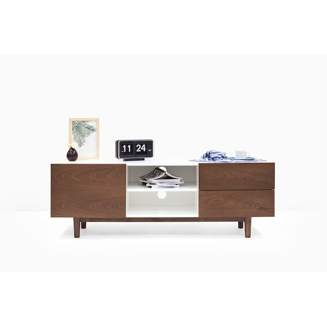 Aalto TV Cabinet 1.6m with Kyra High Coffee Table - Cocoa - 8