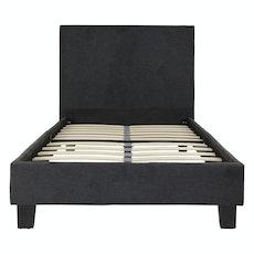 Bristol Headboard Bed - Dark Grey