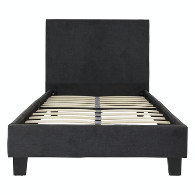 Bradley Headboard Bed - Dark Grey