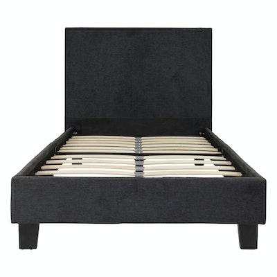 bradley headboard bed dark grey
