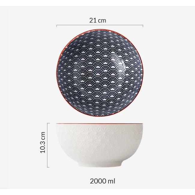 Table Matters Blue Wave Bowl (3 Sizes) - 5