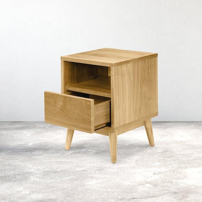 Kyoto Bottom Drawer Bedside Table - Oak - 1