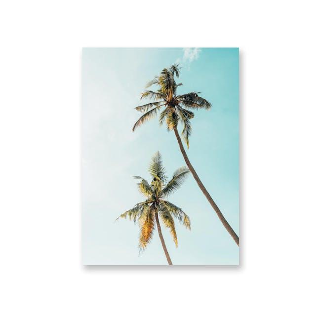 Borderless Tropical Art Print on Paper (2 Sizes) - Palm Trees - 0