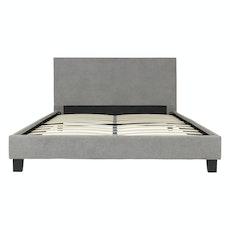Bristol Headboard Bed - Light Grey