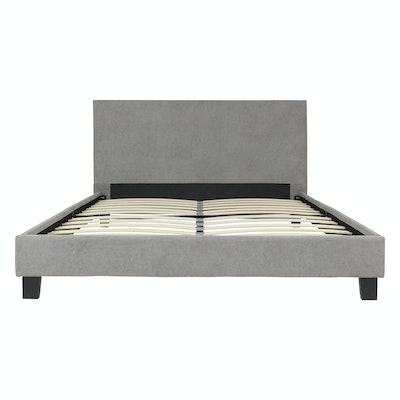 Bradley Headboard Bed - Light Grey