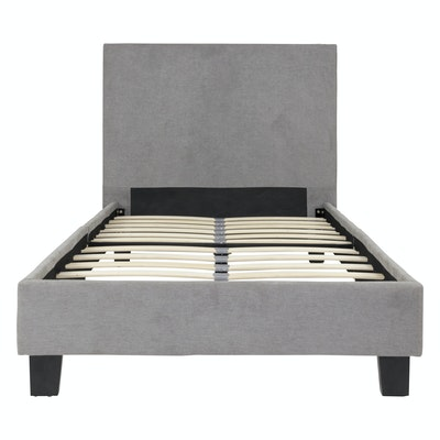 Bradley Single Bed - Light Grey - Image 1