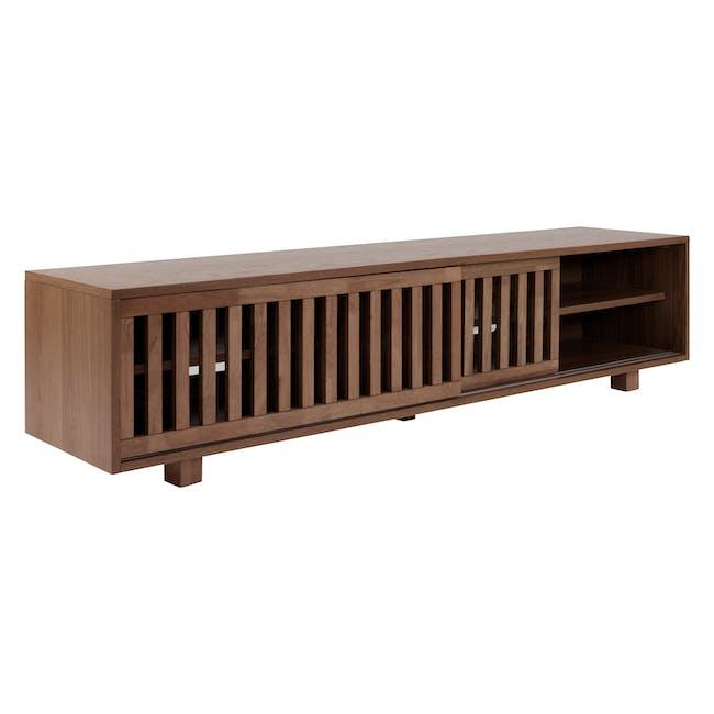 Keita TV Console 1.8m in Walnut with Carsyn Oval Coffee Table in Cocoa - 5
