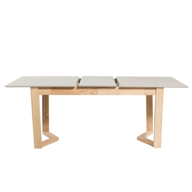 Meera Extendable Dining Table 1.6m - Natural, Taupe Grey - 11