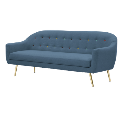 Arden 3 Seater Sofa - Blue - Image 2