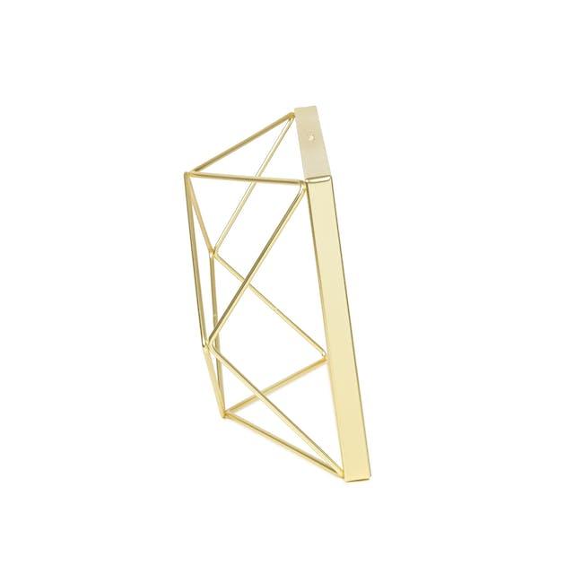 Prisma Rectangle Photo Display - Brass - 1