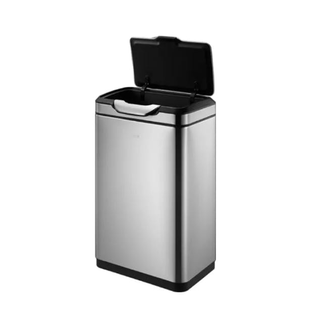 EKO Touchpro Stainless Steel Touch Bin With Soft Opening Lid 20L+20L - Brushed - 4