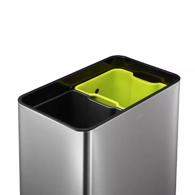 EKO Touchpro Stainless Steel Touch Bin With Soft Opening Lid 20L+20L - Brushed - 1
