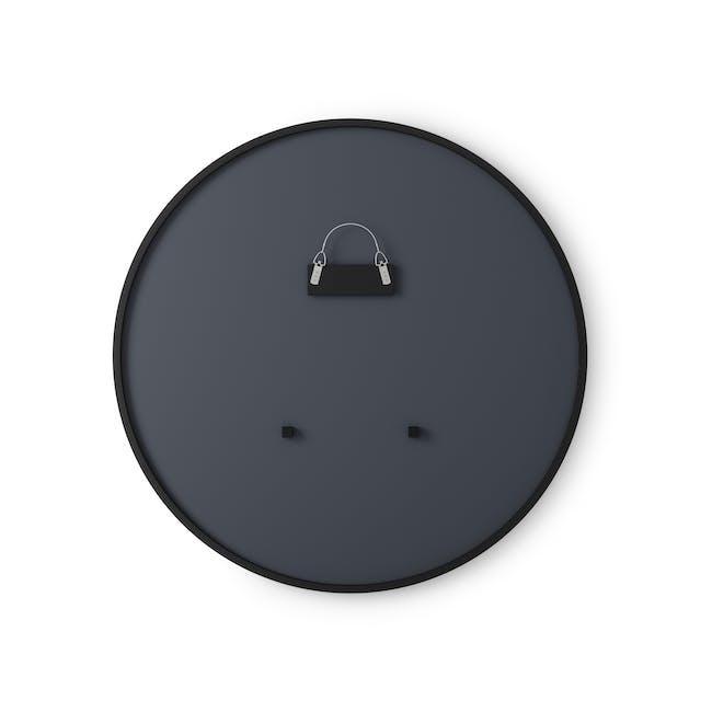 Hub Round Mirror 91 cm - Black - 2
