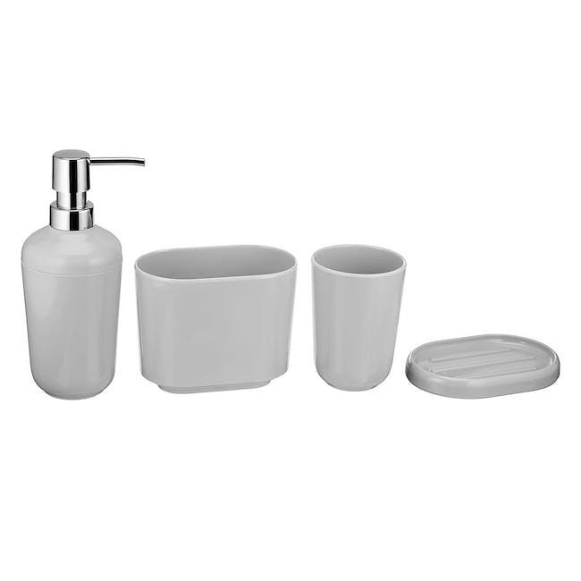 Sid 4pc Bathroom Accessory Set - Grey - 0