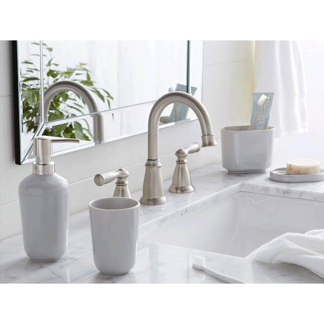Sid 4pc Bathroom Accessory Set - Grey - 3