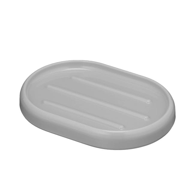 Sid 4pc Bathroom Accessory Set - Grey - 2