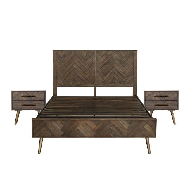 Cadencia Queen Bed with 2 Cadencia Bedside Tables - 0