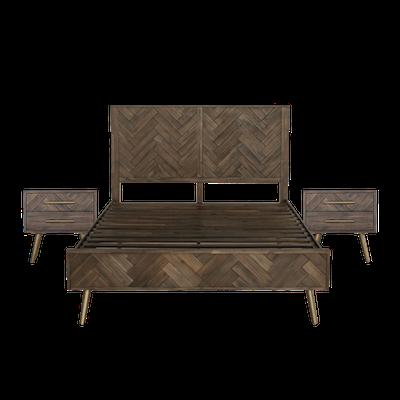 Cadencia Queen Bed with 2 Cadencia Bedside Tables - Image 1
