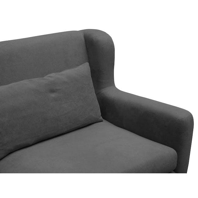 Luke 3 Seater Sofa - Onyx Grey - 7