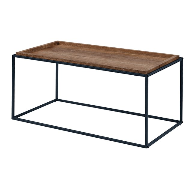 Lamont TV Console 1.2m in Grey with Dana Rectangular Coffee Table in Walnut - 8