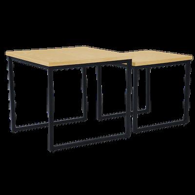 Brittany Nest Table Set - Oak - Image 1
