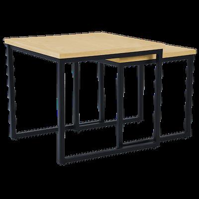 Brittany Nest Table Set - Oak - Image 2
