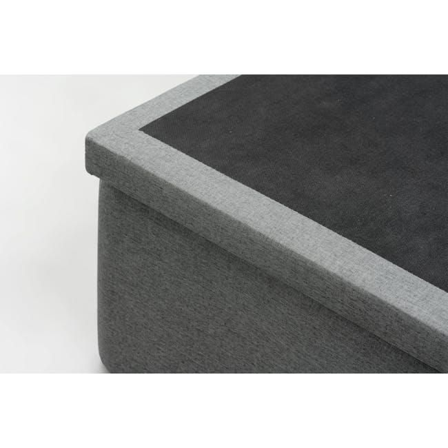 ESSENTIALS Queen Storage Bed - Grey (Fabric) - 6