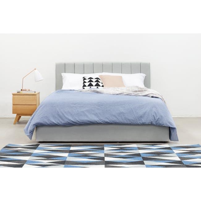 Audrey Queen Storage Bed - Hailstorm (Fabric) - 2