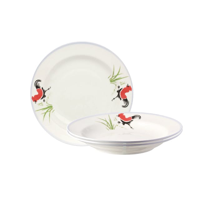 Rooster Soup Dish (Set of 3) - 0